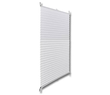 Plisse Blind 50x125cm White Pleated Blind[3/7]