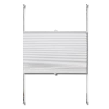 Plisse Blind 50x125cm White Pleated Blind[4/7]