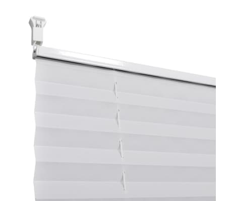 plisse blind 60x200cm white pleated blind. Black Bedroom Furniture Sets. Home Design Ideas
