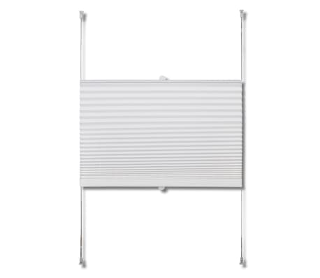 Plisse Blind 80x150cm White Pleated Blind[4/7]