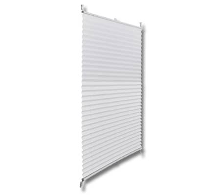 Plisserede blinde 90x125 cm hvid[3/7]