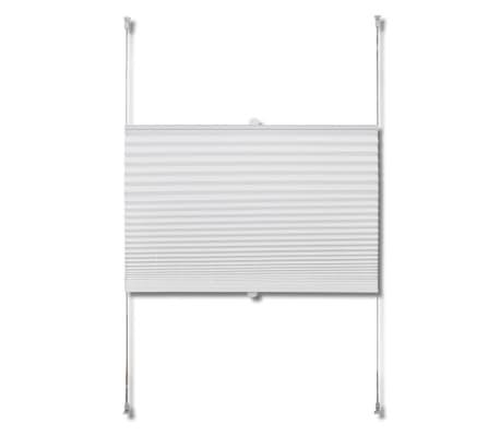 Plisserede blinde 90x125 cm hvid[4/7]