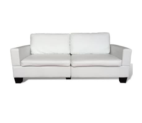 vidaxl sofa set 2 sitzer und 3 sitzer leder creme g nstig kaufen. Black Bedroom Furniture Sets. Home Design Ideas