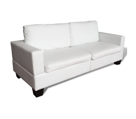vidaxl sofa set 2 sitzer und 3 sitzer leder creme g nstig kaufen. Black Bedroom Furniture Sets. Home Design Ideas