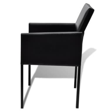Silla de comedor moderna 2 unidades negra for Sillas negras modernas