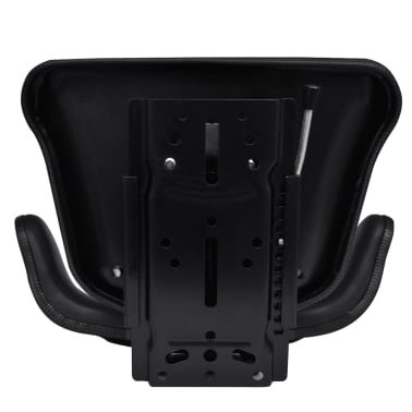 vidaXL Tractor Seat with Backrest Black[5/7]