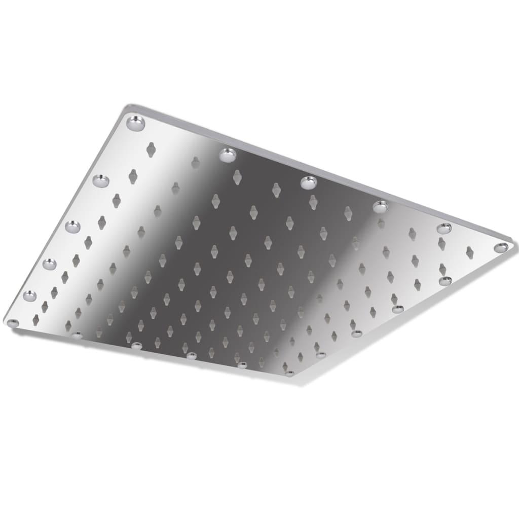 Cap de duș din oțel inoxidabil 20 cm, Pătrat poza vidaxl.ro