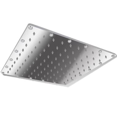 Stainless Steel Rainfall Rain Bathroom Shower Head 30 cm Square[1/7]