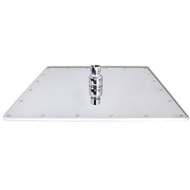 Stainless Steel Rainfall Rain Bathroom Shower Head 40 cm Square[4/7]