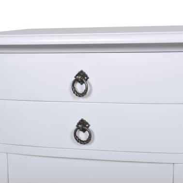 vidaXL Noptieră cu 2 sertare, alb[3/5]