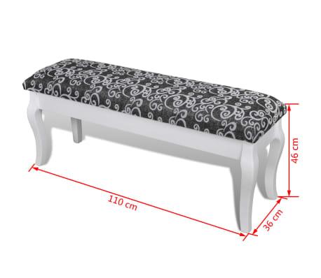 Klupica za toaletni stolić, 110 cm, crna[5/5]