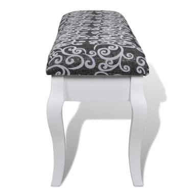 Klupica za toaletni stolić, 110 cm, crna[4/5]