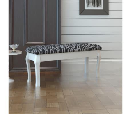 Klupica za toaletni stolić, 110 cm, crna[1/5]