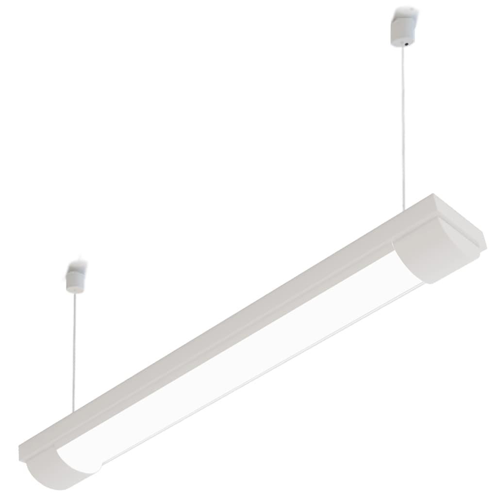 Parotěsné zářivkové svítidlo na 2 zářivky se závěsnými lanky - 18 W