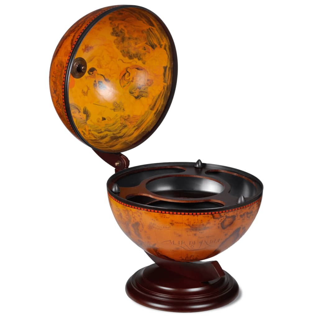 vidaXL Tabletop Bar Globe with Embowed Stand Wine Liquor Table