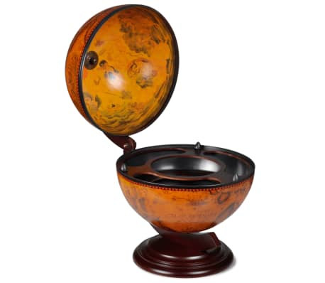 vidaXL Tabletop Globe Bar Wine Stand Wood-picture