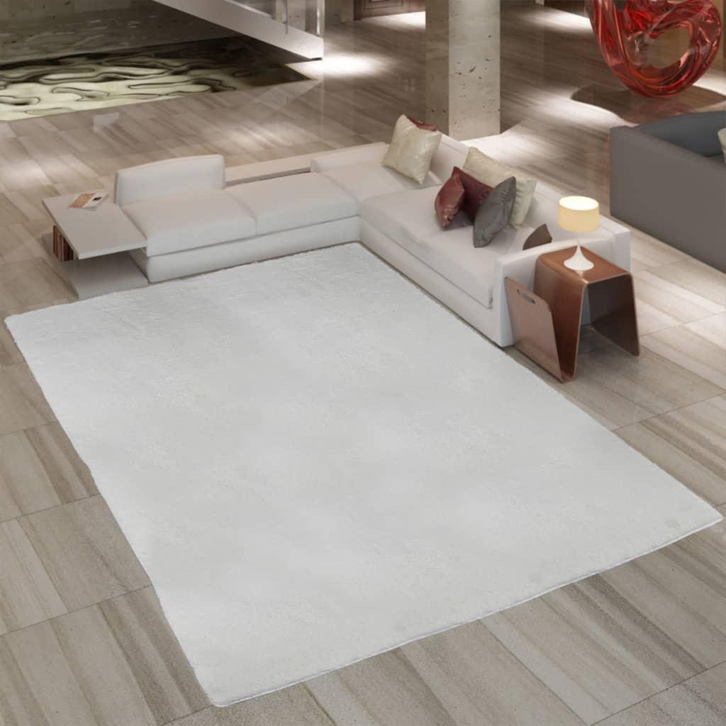 Chlupatý koberec Shaggy 80 x 150 cm celková váha 2600 g / m² krémový