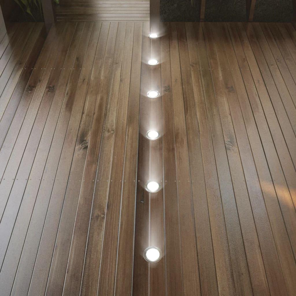 vidaXL LED vloerlampjes 6 stuks warm wit licht