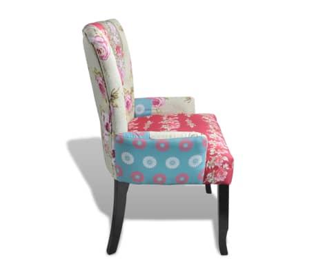 acheter vidaxl fauteuil en style fran ais avec design de patchwork tissu pas cher. Black Bedroom Furniture Sets. Home Design Ideas