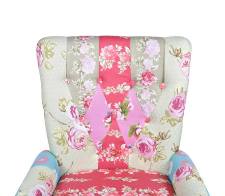 vidaXL French Chair with Patchwork Design Fabric[5/6]