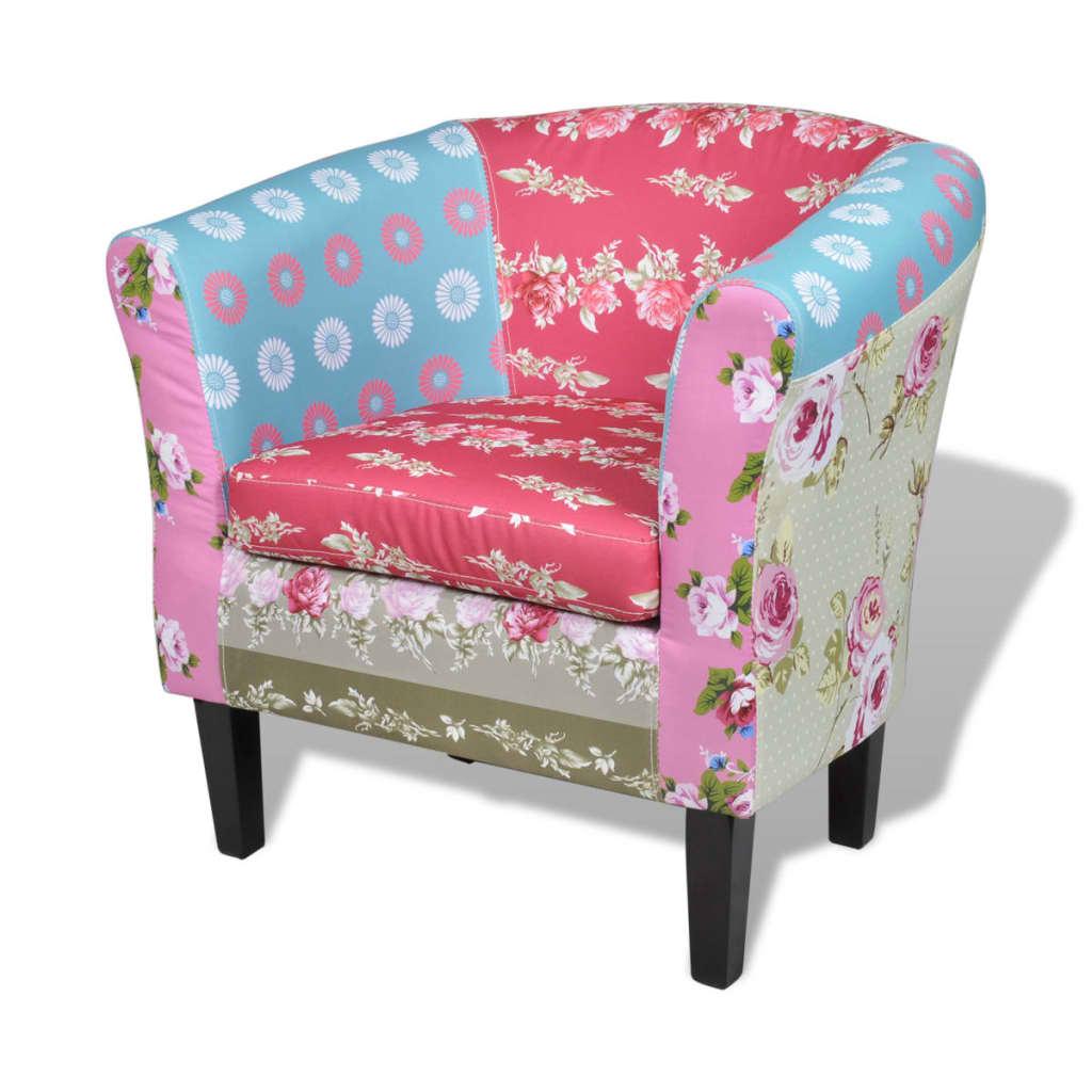 Lappendeken fauteuil Relax flora design