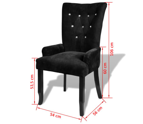 vidaXL Armchair with Wooden Frame Velvet Black[6/6]