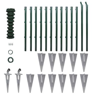 vidaXL Stängselpaket för flätverksstängsel 1,0 x 25 m[1/13]
