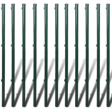 Chain-Link Fence Set with Posts Spike Anchors & Other Fitting 1.25x25m[6/13]