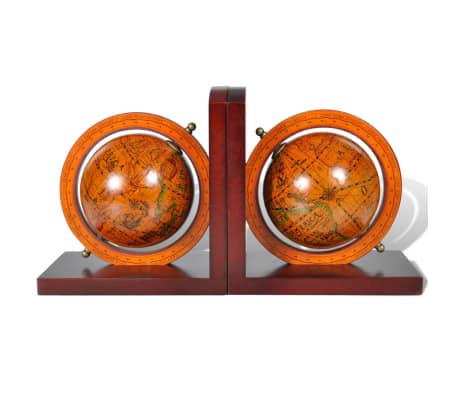 Buchstützen 2 tlg. Antike mit Globen Weltkugel Braun[2/5]
