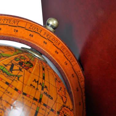 Buchstützen 2 tlg. Antike mit Globen Weltkugel Braun[5/5]