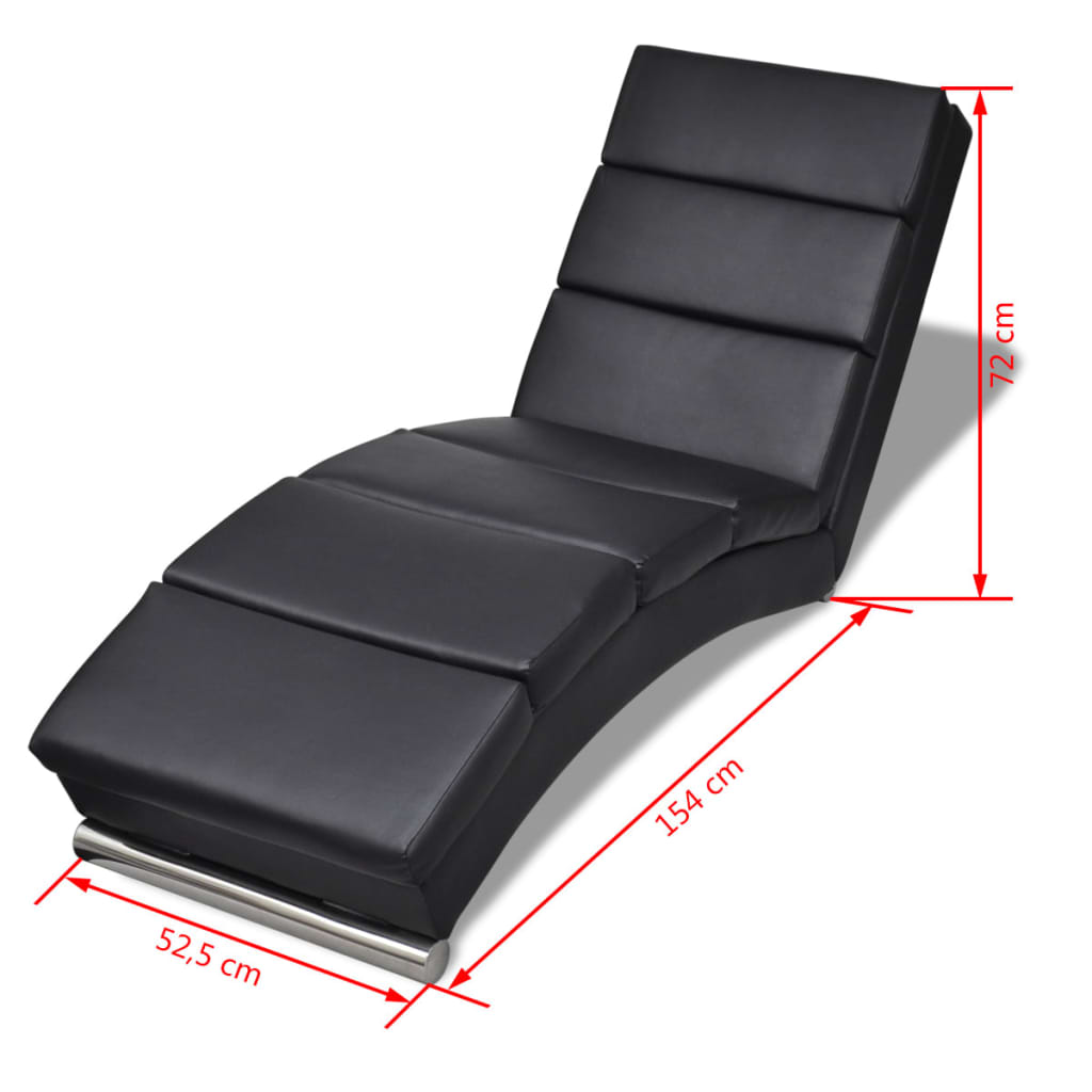 Poltrona relax chaise longue sedia a sdraio in similpelle design moderno ebay - Poltrona relax design ...