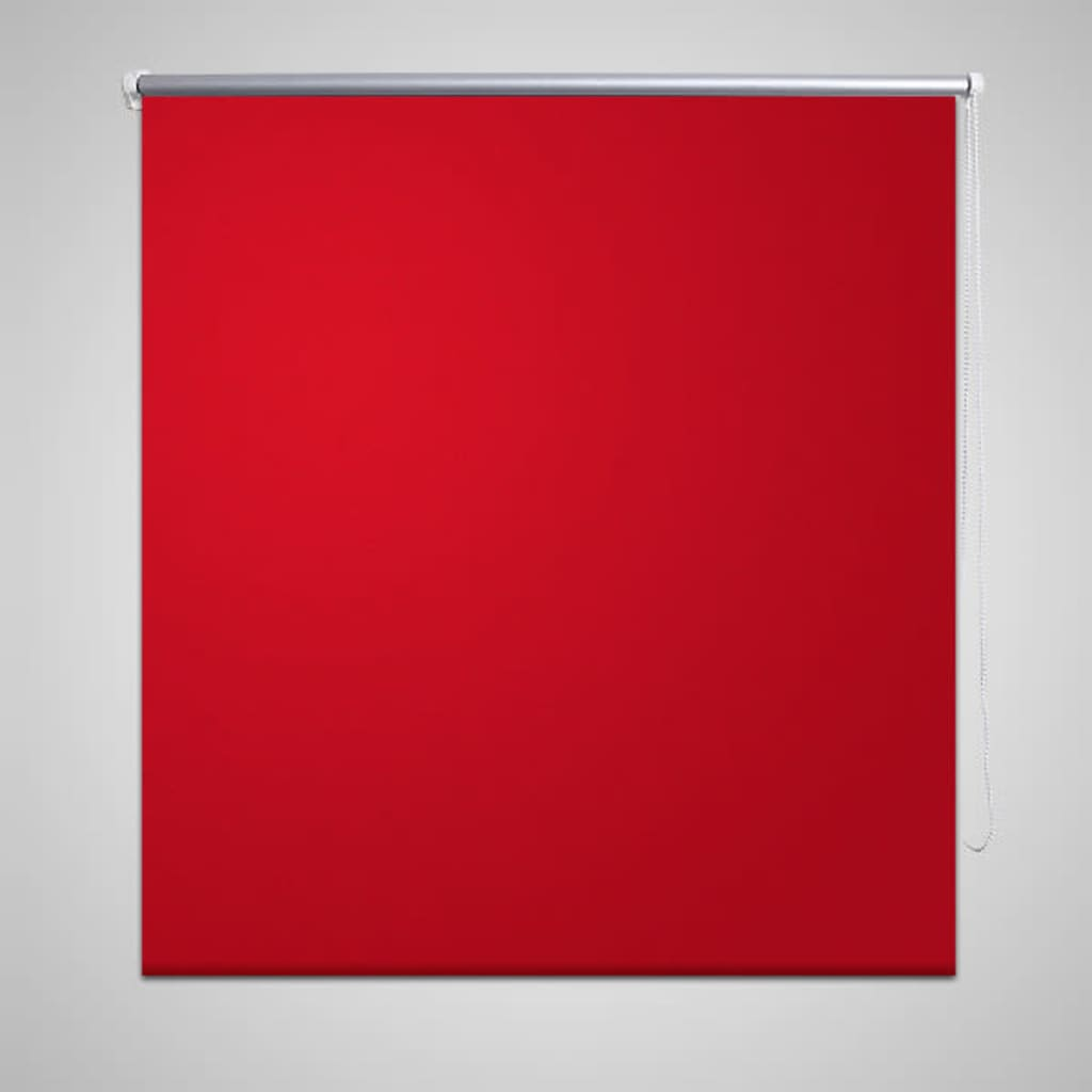 vidaXL Mørkeleggingsrullegardin 40 x 100 cm Rød