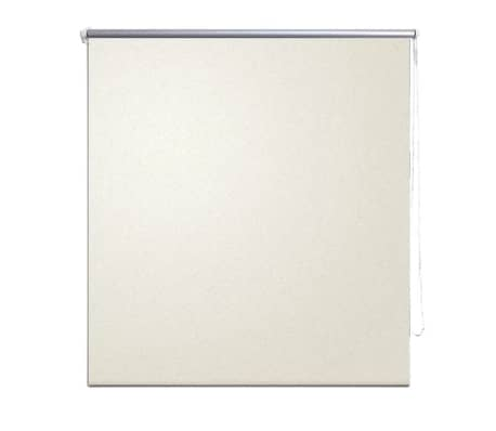 vidaXL Roller Blind Blackout 60 x 120 cm Off White[2/4]