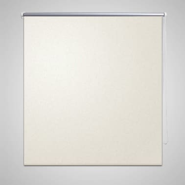 vidaXL Roller Blind Blackout 60 x 120 cm Off White[1/4]