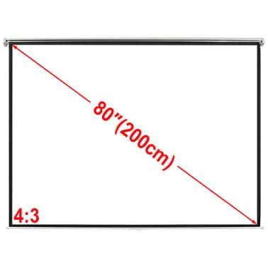 Projectiescherm wit 160 x 123 cm (4:3 formaat)[1/5]