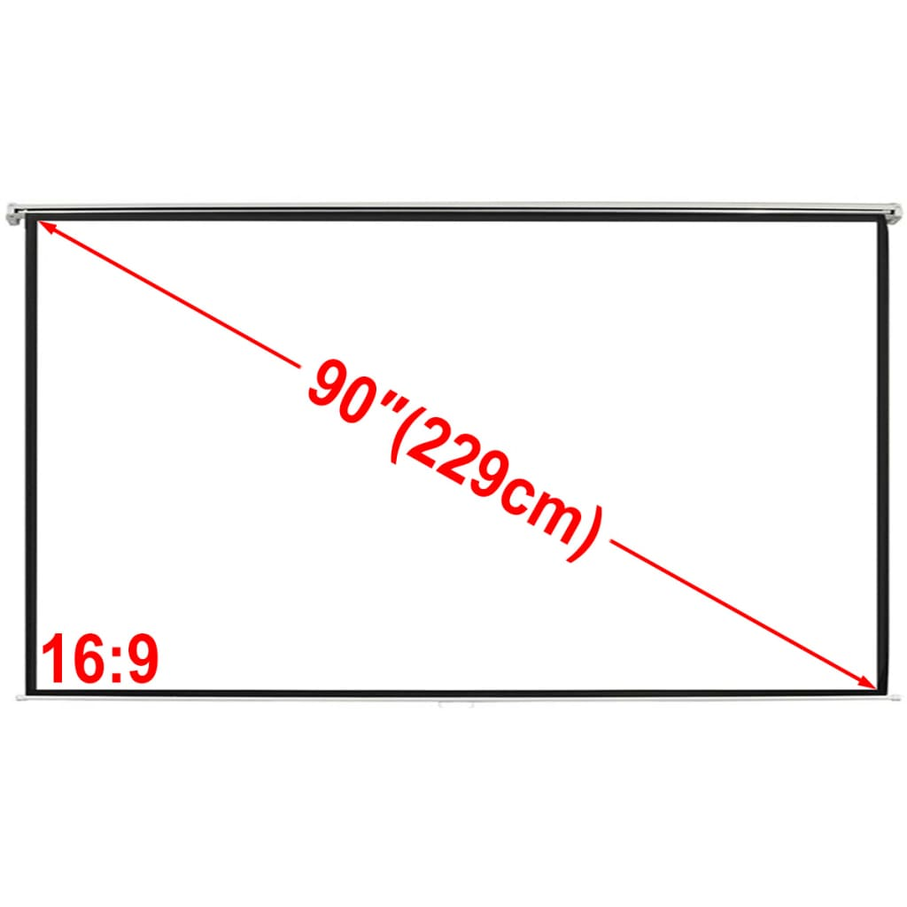 Projekční plátno 200 x 113 cm matná bílá 16:9