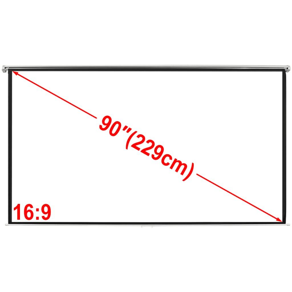 Projektori ekraan 200 x 113 cm 16:9 matt valge