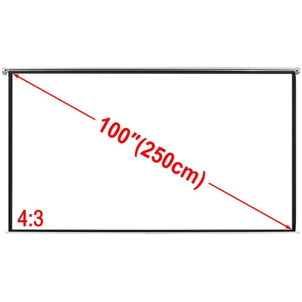Projektori ekraan 200 x 153 cm 4:3, matt valge