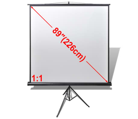 Manual Projection Screen with Height Adjustable Stand 63x63 inch 1:1[1/5]