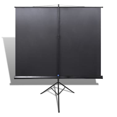 Manual Projection Screen with Height Adjustable Stand 63x63 inch 1:1[5/5]