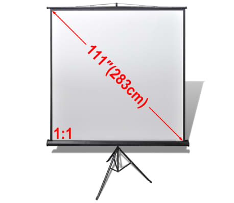 Manual Projection Screen / Height Adjustable Stand 78.7x78.7 inch 1:1[1/5]
