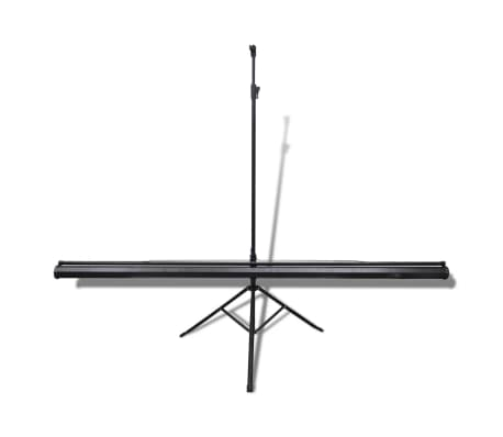 Manual Projection Screen with Height Adjustable Stand 200 x 200 cm 1:1[2/5]