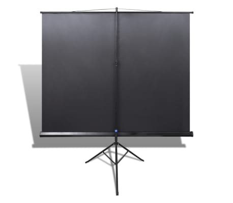 Manual Projection Screen / Height Adjustable Stand 78.7x78.7 inch 1:1[5/5]