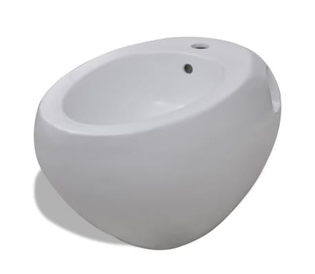 Bidé vit keramik, vägghängd[2/6]