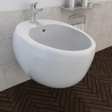 Bidé vit keramik, vägghängd[3/6]