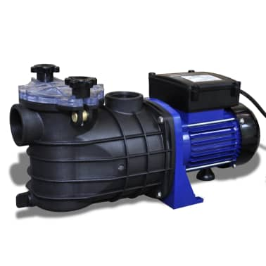 Schwimmbadpumpe Umwälzpumpe Poolpumpe Pumpe elektronik blau 500W[1/4]