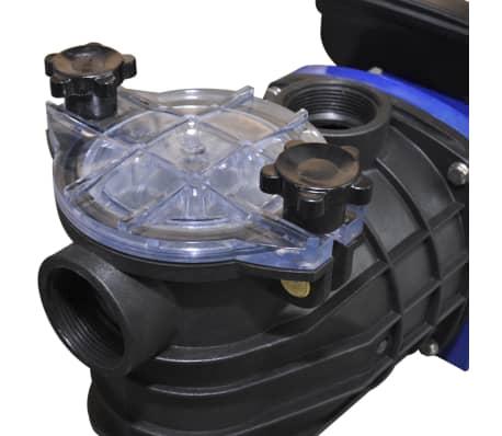 Schwimmbadpumpe Umwälzpumpe Poolpumpe Pumpe elektronik blau 500W[3/4]
