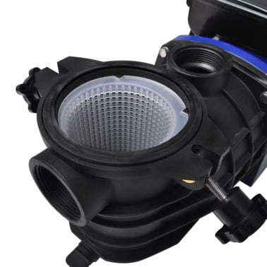 Schwimmbadpumpe Umwälzpumpe Poolpumpe Pumpe elektronik blau 500W[4/4]
