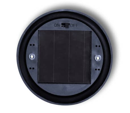 vidaXL Boule solaire extérieure d'allée 15 cm 4 pcs et piquets[6/6]