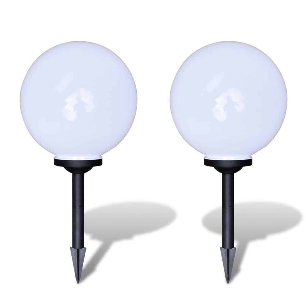 vidaXL Φωτιστικό Εξωτερικού Χώρου Μπάλα Ηλιακό LED 2 τεμ. 30 εκ. με Καρφί